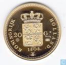 """Nederland 20 gulden 1808 Lodewijk Napoleon """"herslag"""" goud > afd. Penningen > Replica munten"""