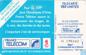 Telefoonkaarten - France Telecom - Albertville'92 Saut A Ski