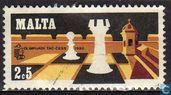 Postzegels - Malta - Schaakolympiade