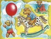 1839: Spelende beertjes op hobbelpaard