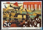 Postzegels - Malta - Einde Tweede Wereldoorlog 50 jaar