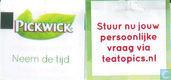Theezakjes en theelabels - Pickwick 3 (groen blad) - Pure Organic Black