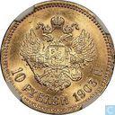 Rusland 10 roebel 1903