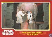 Leia slaat een bericht op in R2-D2