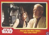 Han en Obi-Wan kijken hoe Luke traint