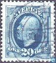 Postzegels - Zweden - Koning Oscar II