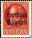"Roi Louis III surchargé ""Freistaat Bayern"""