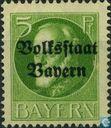 """King Ludwig III. Bavière portant la mention «État populaire de la Bavière"""""""