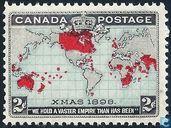 Wereldkaart en Britse Rijk