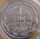 """Nederland 2½ ecu 1992 """"Bezoek Koninklijke familie Antillen"""""""