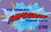 The World's Favourite phone card