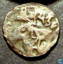 Shahi koningen van Kabul  AE18 jital  870-1008 CE