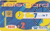 Cartes téléphoniques - Telecom Namibia - Go 7... to 7
