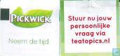 Theezakjes en theelabels - Pickwick 3 (groen blad) - Green Tea, Apple & Lemongrass
