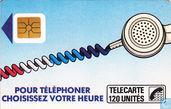 Telefoonkaarten - France Telecom - Pour téléphoner choisissez votre heure
