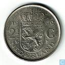 Nederland 2½ gulden 1969 (Haan - met klop Numismatische Kring Hoogeveen)