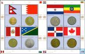 Postage Stamps - United Nations - New York - Flags and coins of the Member States