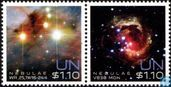 Postage Stamps - United Nations - New York - Nebulae and gas clouds