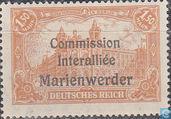 Briefmarken - Marienwerder - Denkmäler Berlin mit Aufdruck
