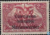 Briefmarken - Marienwerder - Norden und Süden mit Aufdruck