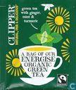 Tea bags and Tea labels - Clipper [r] - green tea with ginger, mint & turmeric