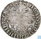 Rusland ¼ roebel - polupoltinnik 1704