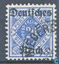 Postzegels - Duitse Rijk - Opdruk op dienstzegels Württemburg