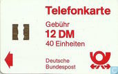 Telefonkarte 12 DM