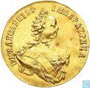 Rusland 10 roebel - chervonets 1748