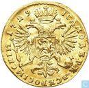 Rusland 10 roebel (Ducat) 1729
