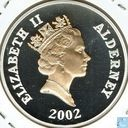 """Alderney 5 pounds 2002 (PROOF) """"50th anniversary Accession of Queen Elizabeth II"""""""