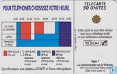 Cartes téléphoniques - France Telecom - Les tarifs réduits 18H00
