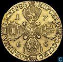 Rusland 10 roebel 1766