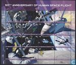 Postage Stamps - United Nations - New York - 50 Years of Human Space Flight