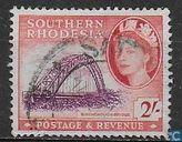 Briefmarken - Südrhodesien - Birchenough Brücke