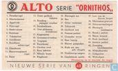 beschrijvingskaart - serie Ornithos