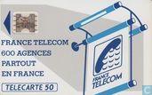 Telefoonkaarten - France Telecom - 600 Agences partout en France