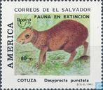 Postzegels - El Salvador - Bedreigde dieren