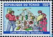 Postage Stamps - Chad - Locust control