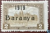Postzegels - Servië - Bezetting van Baranya - Parlementsgebouw