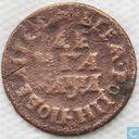 Rusland denga (½ kopeek) 1704