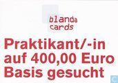 "Ansichtkaarten - Blanda cards (logo) - 0322 - blanda promotions ""Praktikant/-in"""