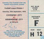Wedstrijdprogramma's - 1976-1977 - Coventry City v. Birmingham City