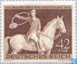 Postzegels - Duitse Rijk - Bruine band