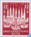Postzegels - Duitse Rijk - Lübeck 1143-1943