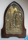 Art Nouveau Frans Lourdes souvenir met muziekdoos gesigneerd