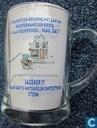 !!VERKEERDE RUBRIEK!! Glazen  bierpul, fietser voor cafe