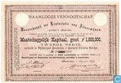 Maatschappij tot Exploitatie van Zilvermijnen, Aandeel f 120,=, 1877