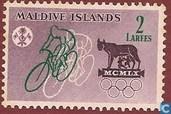 Postzegels - Maldiven - Olympische Spelen