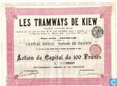 Les Tramways de Kiew, Action de Capital de 100 Francs, 1905